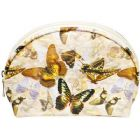 Cosmetic Pouch With Butterfly Pattern