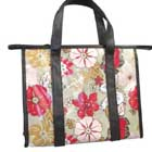 Monogram Floral Print Rectangular Tote Bag