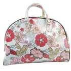 Monogrammed Hibiscus Floral Canvas Large Travel Bag