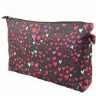 Heart Print Cosmetic Bag