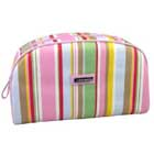 Stripe Patterned Cosmetic Bag