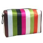 Monogram Stripe Patterned Cosmetic Bag