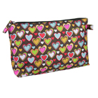 Heart Pattern Cosmetic Bag