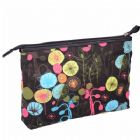 Monogrammed Pattern Canvas Makeup Bag