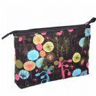Monogrammed Pattern Canvas Makeup Bag