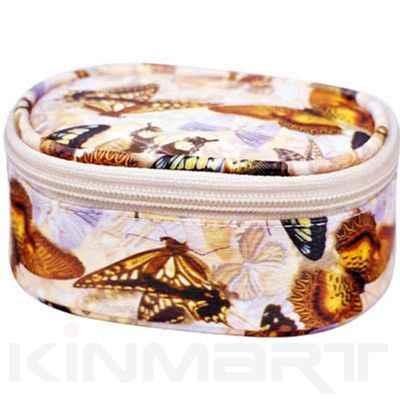 Butterfly Monogrammed Cosmetic Vanity Bag