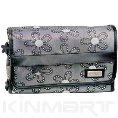Hanging Travel Cosmetic Bag in Jaquard Fabrics