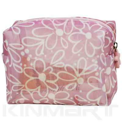 Flower Mesh Cosmetic Bag Personalized