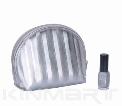 Personalizable Stripe Makeup Bag