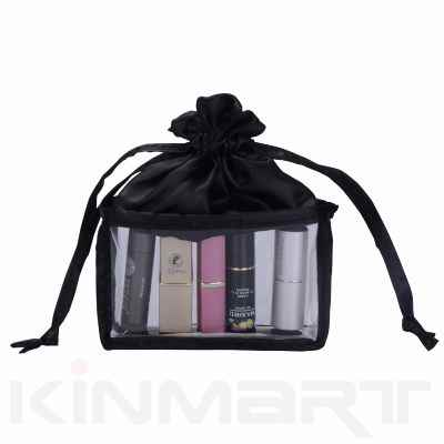 Drawstring Vinyl Cosmetic Pouch