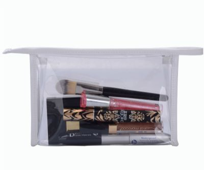 Clear Vinyl PVC Cosmetic Bag Personalized