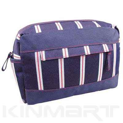 Stripe Toiletries Bag Personalised