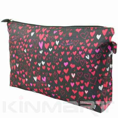 Heart Print Cosmetic Bag Personalized