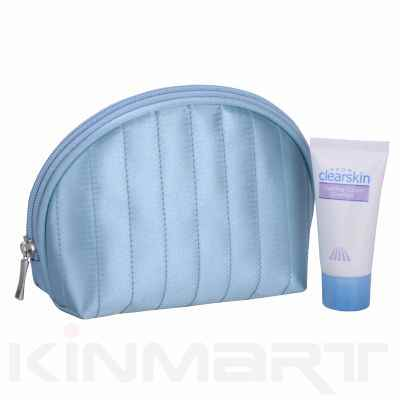 Quilted Satin Cosmetic Pouch