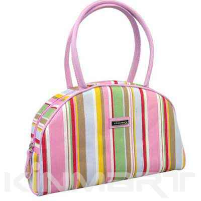 Handbag with Stripe Pattern