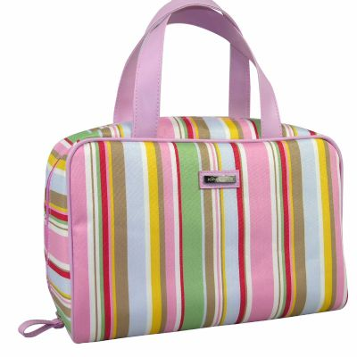 Stripe Cosmetic Handbag