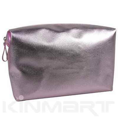Glam PVC leather cosmetic pouch Monogrammed