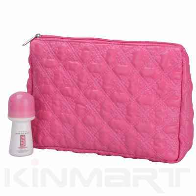 Quilted toiletry bags