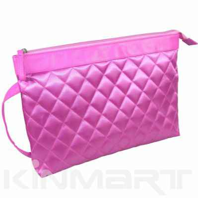 Large Quilted Cosmetic Bag Personalised