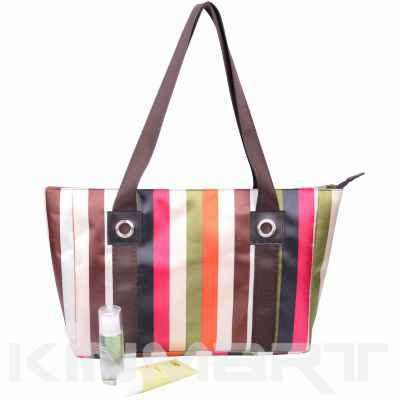 Monogrammed Stripe Shopper Bag