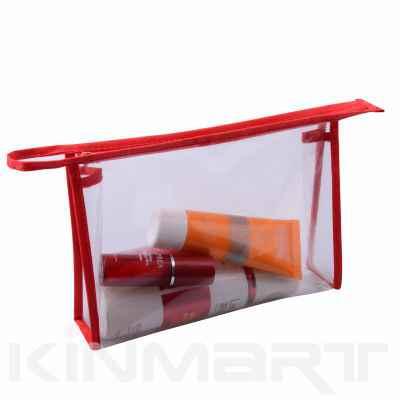 Cheap Clear Vinyl PVC Cosmetic Bag