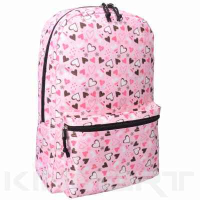Backpack with Love Heart Pattern for Girls