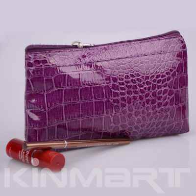 Personalized Crocodile Skin Cosmetic Bag