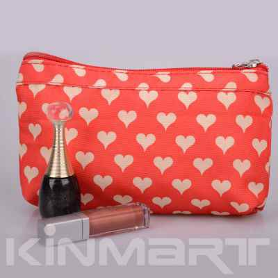 Heart Print Cosmetic bag Monogrammed