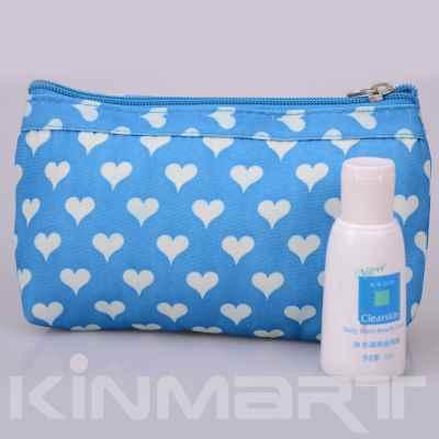 Heart Print Cosmetic bag Monogrammed