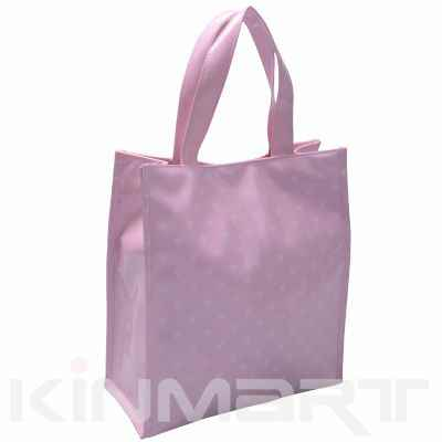 Monogrammed Heart Pattern Tote Bag