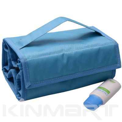 Bulk Rollup Travel Cosmetic Organizer with Multi Zipper Compartments