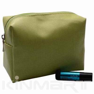 Small Check Cosmetic Bag