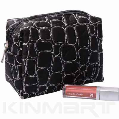Quilted Luxury Cosmetic Pouch