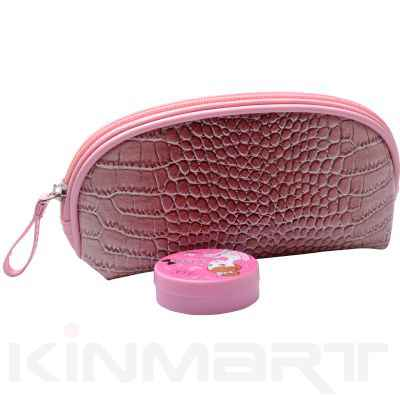Crocodile Skin Cosmetic Bag