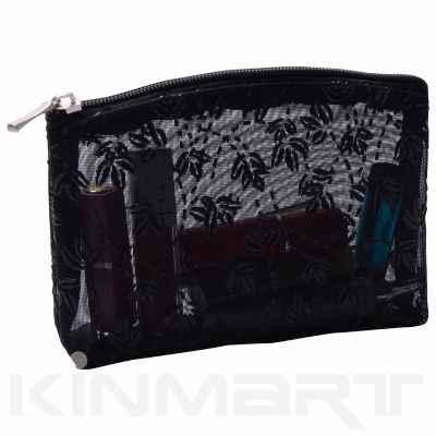 Floral Mesh Cosmetic Bag