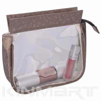 Luxury Vinyl Clear Bag Matching with PU Leather
