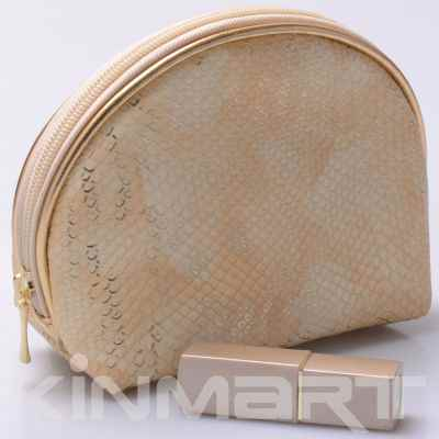 Snake Skin Pattern Cosmetic Bag