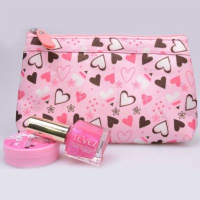 LOVE Heart Print Cosmetic bag