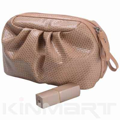 High Quality PU Leather Cosmetic Pouch Monogrammed
