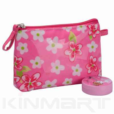 Floral Kids Cosmetic Pouch Monogrammed