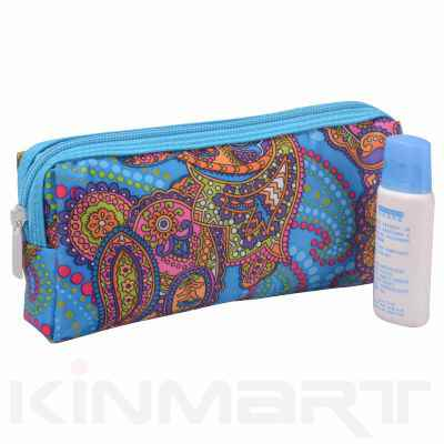 Cosmetic Bag with Side Mesh Pocket