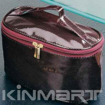 Diamond PVC Leather Cosmetic Vanity Bag