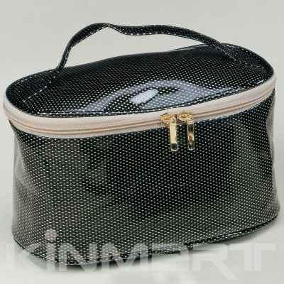 Diamond PVC Leather Cosmetic Vanity Bag Bulk