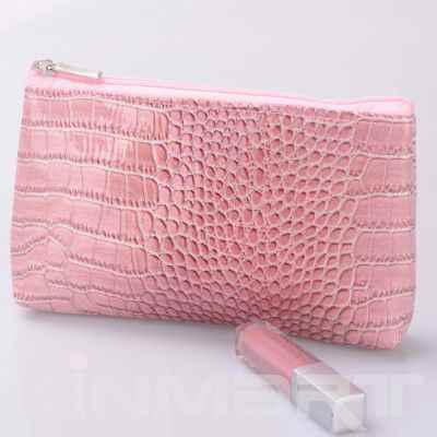 Croc PU Leather Cosmetic Bag