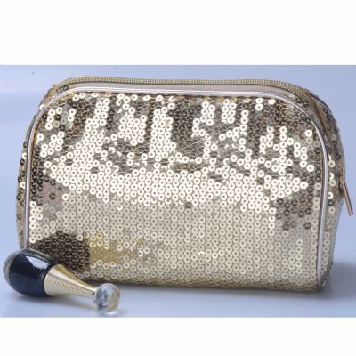 Glam Sequin-ed Cosmetic Pouch Personalizable