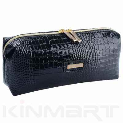 Croco Pattern Cosmetic Pouch Personalized