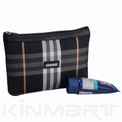 Checked Toiletry Pouch Personalized