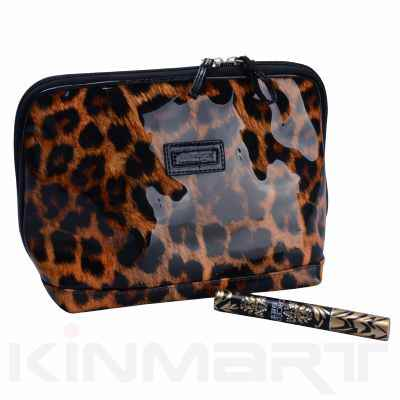 High Quality Personalized Leopard Pattern Cosmetic Pouch