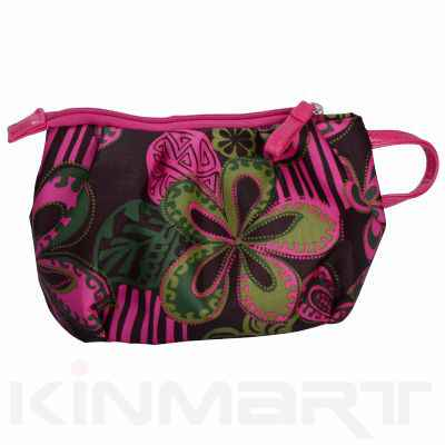 Personalized Small Clutch Cosmetic Bag With Floral Print