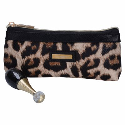 Wholesale Personalised Leopard Pattern Cosmetic Brush Bag